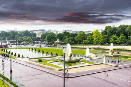 Deurstickers Fontaine Trocadero, Paris