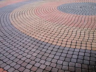 円形の石畳