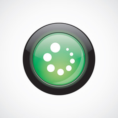 loading glass sign icon green shiny button