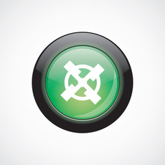 mill glass sign icon green shiny button
