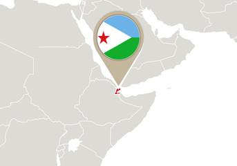 Djibouti on World map