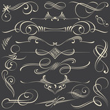 Chalk Calligraphic Vignettes and Dividers - 73564168