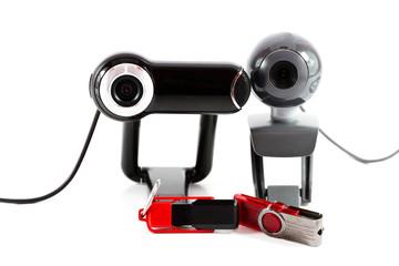 Webkamera mit  Speicherstick