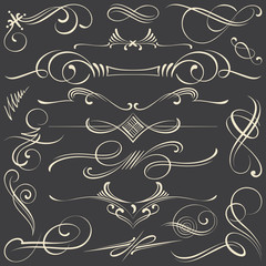 Chalk Calligraphic Vignettes and Dividers