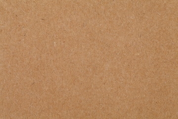 Close - up cardboard sheet of brown paper