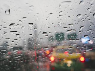 Water drop on window background