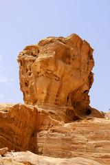 Lion head rock, Petra, Jordan