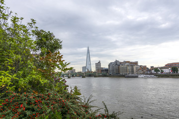 Beautiful view of new skyline in London