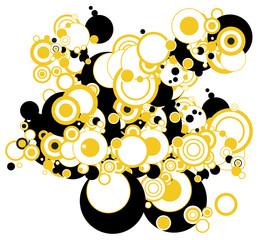 Abstract yellow circles illustration
