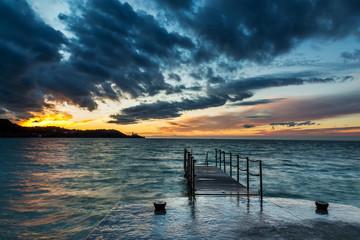 Sunset over Piran, Slovenia