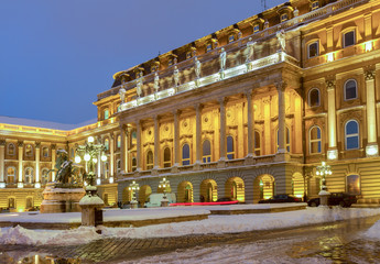 Royal palace at night , Hungary