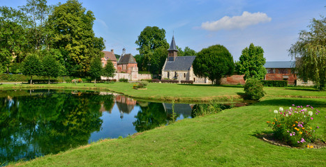 picturesque village of Lisors in Normandie