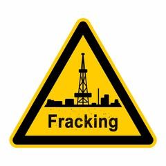 wso95 WarnSchildOrange - Symbol Schild - Frackinganlage g2599