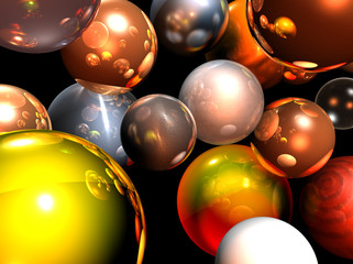 Group of Christmas balls - illustration