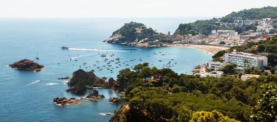 Tossa De Mar coastline, Spain.