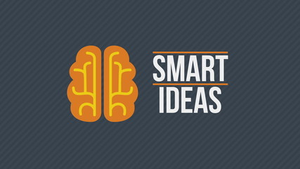 Smart ideas concept video. Brain rotate