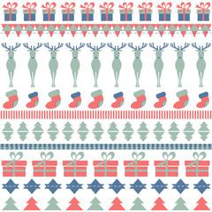 Christmas ornamental pattern with deer