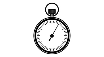 Animation of timer icon. One minute.