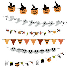 Halloween bunting and garland