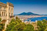 City of Naples with Mt Vesuvius, Campania, Italy