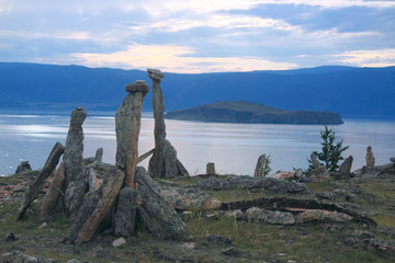Burkhan cape, the lake Baikal