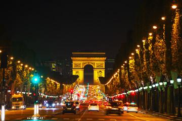 The Arc de Triomphe de l'Etoile in Paris