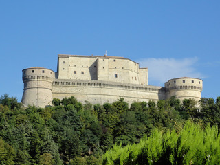 Italian medieval Castle in the Wood
