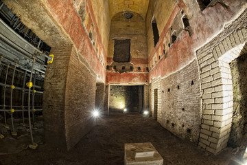 exploring antique roman ruins