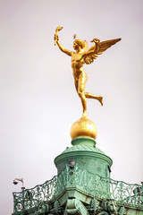 Statue on top of the July column in Paris, France