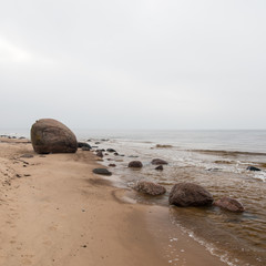 Baltic Sea and foggy morning