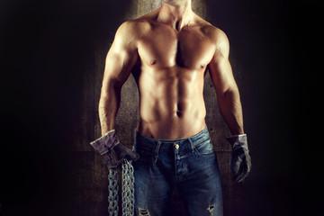 Sexy man worker