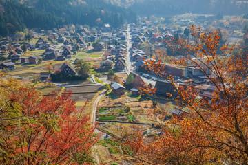 aerial view of Shirakawa-Go