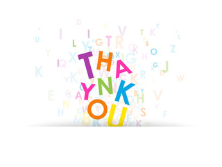 """THANK YOU"""" Letter Collage (card thanks courtesy service)"""