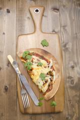 sea food pizza with coriander