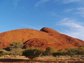 A red mountain in the Northern Territory in Australia
