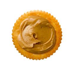 Peanut Butter on Round Cracker