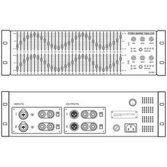 vector outline speaker stereo graphic equalizer front back