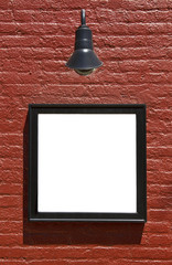 Sign On Brick Wall