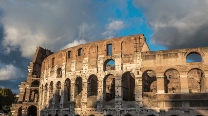 Timelapse of Colosseum in Rome during sunset