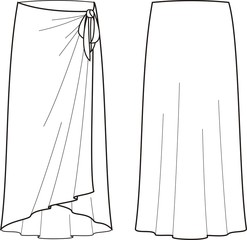 Vector illustration of women's beach skirt