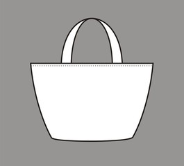 Vector illustration of women's beach bag