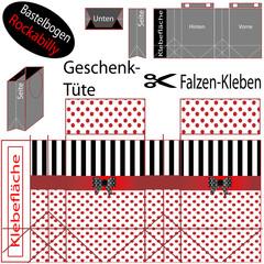 Geschenk-Tüte / Bastelbogen