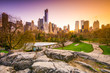 Central Park at Dusk in New York City