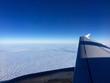 canvas print picture - Flugzeug über den Wolken