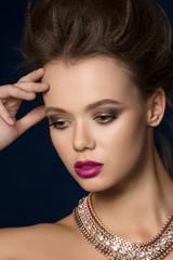 Beauty fashion glamour woman portrait