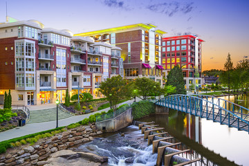 Greenville, South Carolina, USA Cityscape at Reedy River