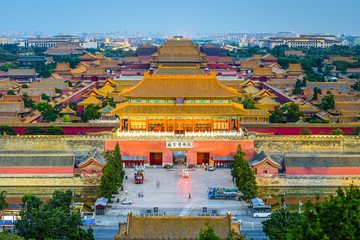 Beijing, China at the Forbidden City