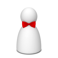 Human figure with bow tie