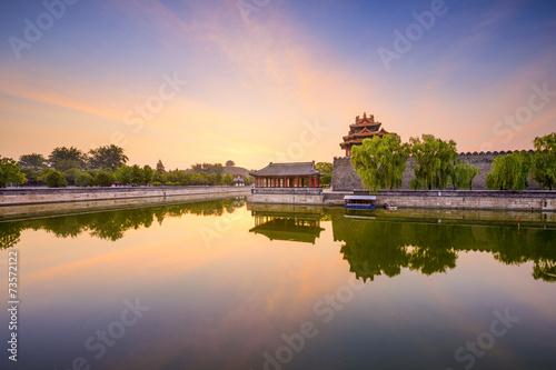 Foto op Aluminium Beijing Forbidden City Moat of Beijing, China