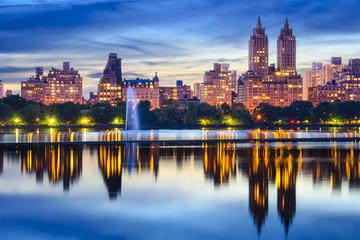 New York City Central Park Skyline at the Reservoir